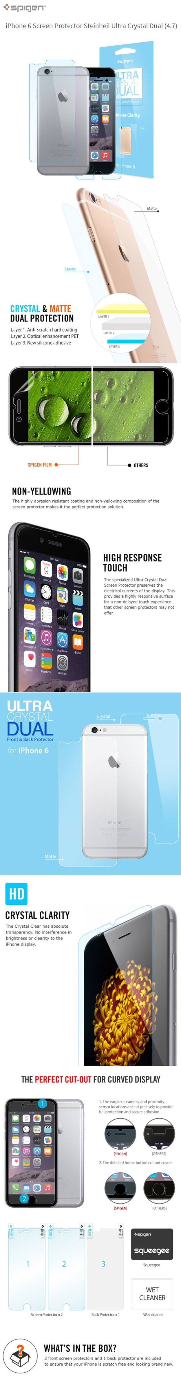 iPhone6ScreenProtectorSteinheilUltraCrystalDual4.7